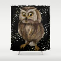 hedwig Shower Curtains featuring My Hedwig by Mathis Designs