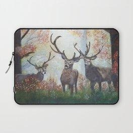 Morning Deer Border Laptop Sleeve