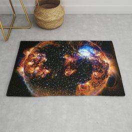 Solar Weather Of A Dark Star Rug