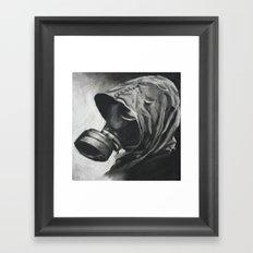 The Gas Mask Framed Art Print