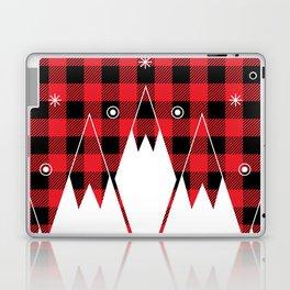 Red Buffalo Plaid Mountains Laptop & iPad Skin