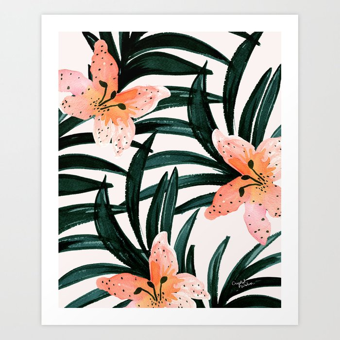 Tiger Lily Tropical Art Print