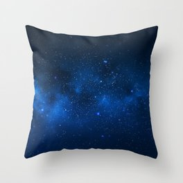 Nebula and Galaxy Throw Pillow