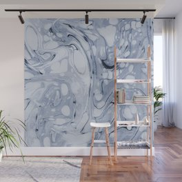 Powder blue water marble Wall Mural
