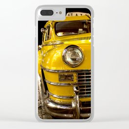 COOL CLASSIC NIGHT TAXI Clear iPhone Case