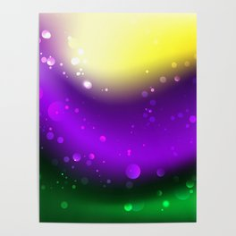 Abstract Mardi Gras Background Poster