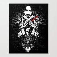 horror Canvas Prints featuring Horror by Lowercase Industry