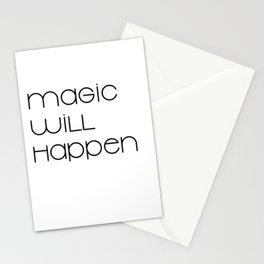 Magic Will Happen (black) Stationery Cards
