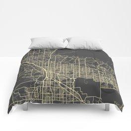 Tucson Map Comforters