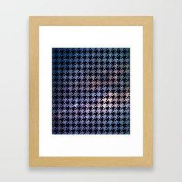 Houndstooth Nebula Framed Art Print