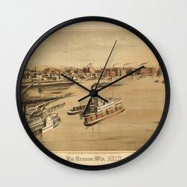 La Crosse Wisconsin 1873 Wall Clock