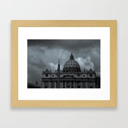 Eerie Basilica Framed Art Print