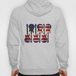 American Flag Guitar Art Hoody