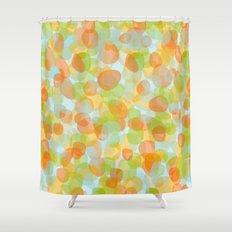 Pebbles Orange Shower Curtain