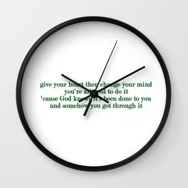 The Age of Worry Wall Clock