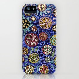 Flower Collage Abstract iPhone Case