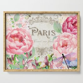 Paris Flower Market III Serving Tray