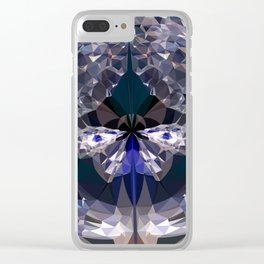 crystal butterfly Clear iPhone Case