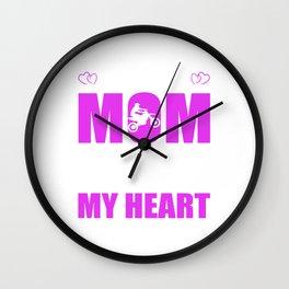 Motocross Moms Full Heart Mothers Day T-Shirt Wall Clock