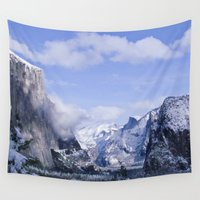 yosemite Wall Tapestries featuring Yosemite by Ian Bevington