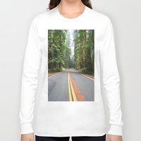 giants Long Sleeve T-shirts featuring Avenue Of The Giants by Kim Ramage