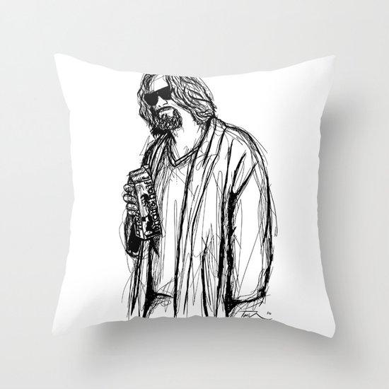 The Dude Throw Pillow