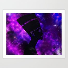 Queen Nefertiti Nebula Dark Space Skyscape Art Print