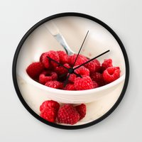 breakfast Wall Clocks featuring Breakfast by Donna M Condida