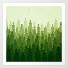 C1.3 Pine Gradient Art Print