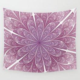Pink Swirls Wall Tapestry