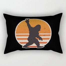 Retro Bigfoot Peace Sign Rectangular Pillow