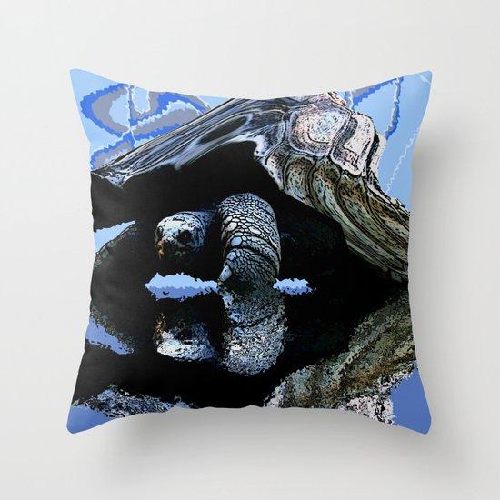 Blue Turtle Throw Pillow