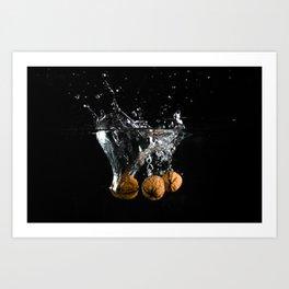 Three Nuts in Water Art Print