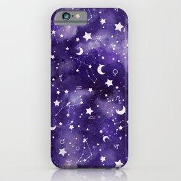 Zodiac Watercolor Ultraviolet iPhone Case