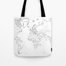Paint your World Map Tote Bag
