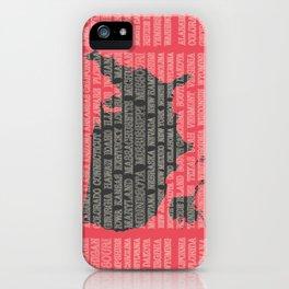 50 States of America iPhone Case