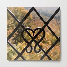Rusty Heart Metal Print