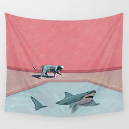 Shark and Kitty Wall Tapestry