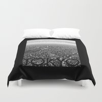 tokyo Duvet Covers featuring TOKYO by Rothko