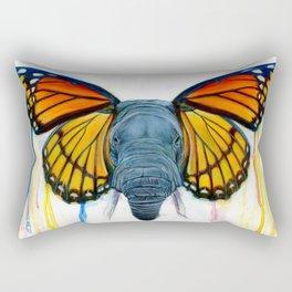 Butterfly Elephant Rectangular Pillow