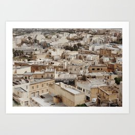 Buildings in Malta Art Print