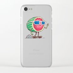 Watermelon Skater Clear iPhone Case