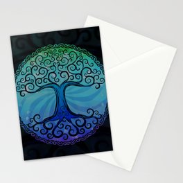 Tree of Life - Cool Blue Stationery Cards