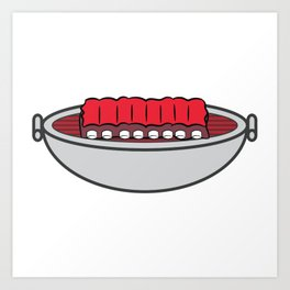 I Love A Big Rack who also loves to eat Ribs BBQ Meat Art Print