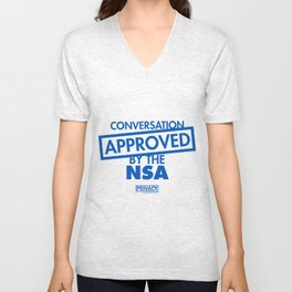 Conversation Approved by the NSA Unisex V-Neck