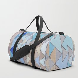 Triangle Pattern no.1 Blues and Browns Duffle Bag