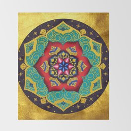 Connection with the universe / Mandala by Ilse Quezada Throw Blanket