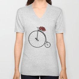 Christmas Bicycle Unisex V-Neck