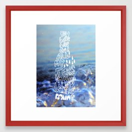 Psalm 56:8 Framed Art Print