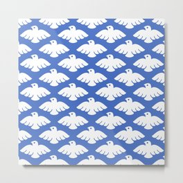 Flying Dove Pattern Metal Print